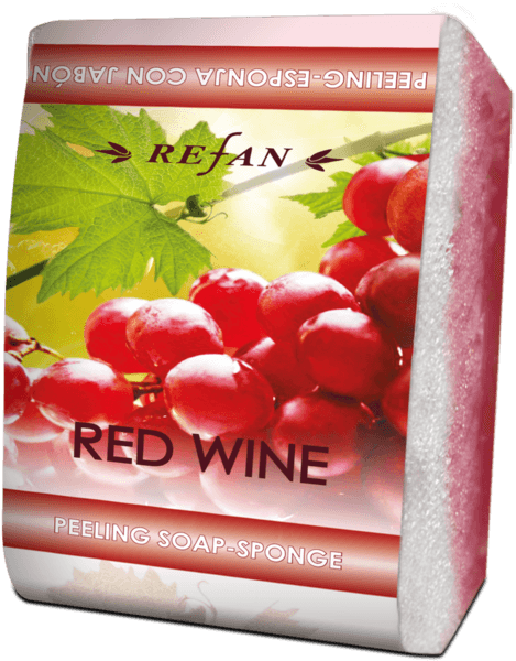 Peeling soap-sponge Red Wine