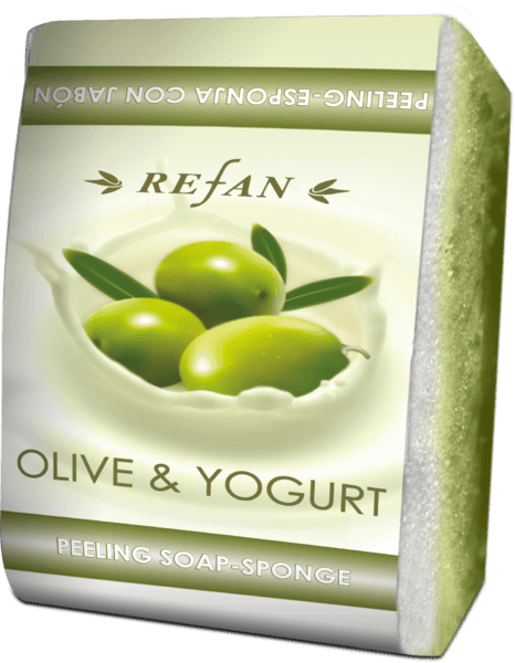 PEELING SOAP-SPONGE OLIVE & YOGURT