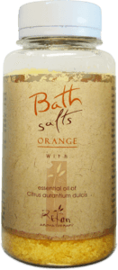 Sales de baño Bath salts with essential oil of orange 250g