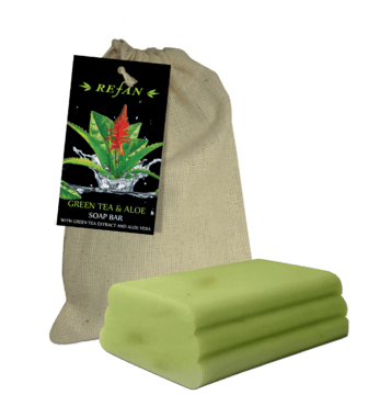 Té verde y Aloe Bar soap